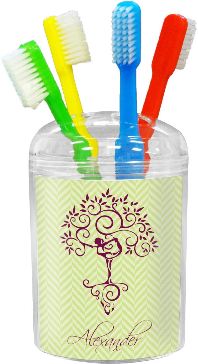 Yoga tree toothbrush holder personalized youcustomizeit for Bathroom decor hashtags