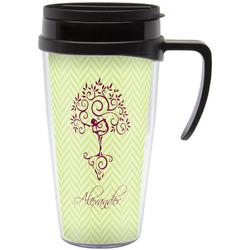 Yoga Tree Travel Mug with Handle (Personalized)