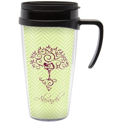Yoga Tree Travel Mug with Handle (Personalized)