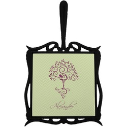 Yoga Tree Trivet with Handle (Personalized)