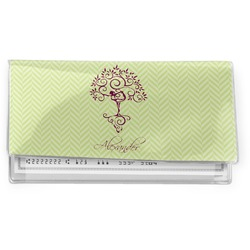 Yoga Tree Vinyl Checkbook Cover (Personalized)