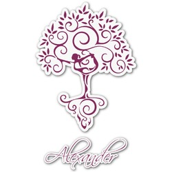 Yoga Tree Graphic Decal - Medium (Personalized)