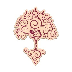 Yoga Tree Genuine Maple or Cherry Wood Sticker (Personalized)