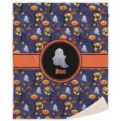 "Halloween Night Sherpa Throw Blanket - 60""x80"" (Personalized)"
