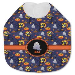 Halloween Night Jersey Knit Baby Bib w/ Name or Text