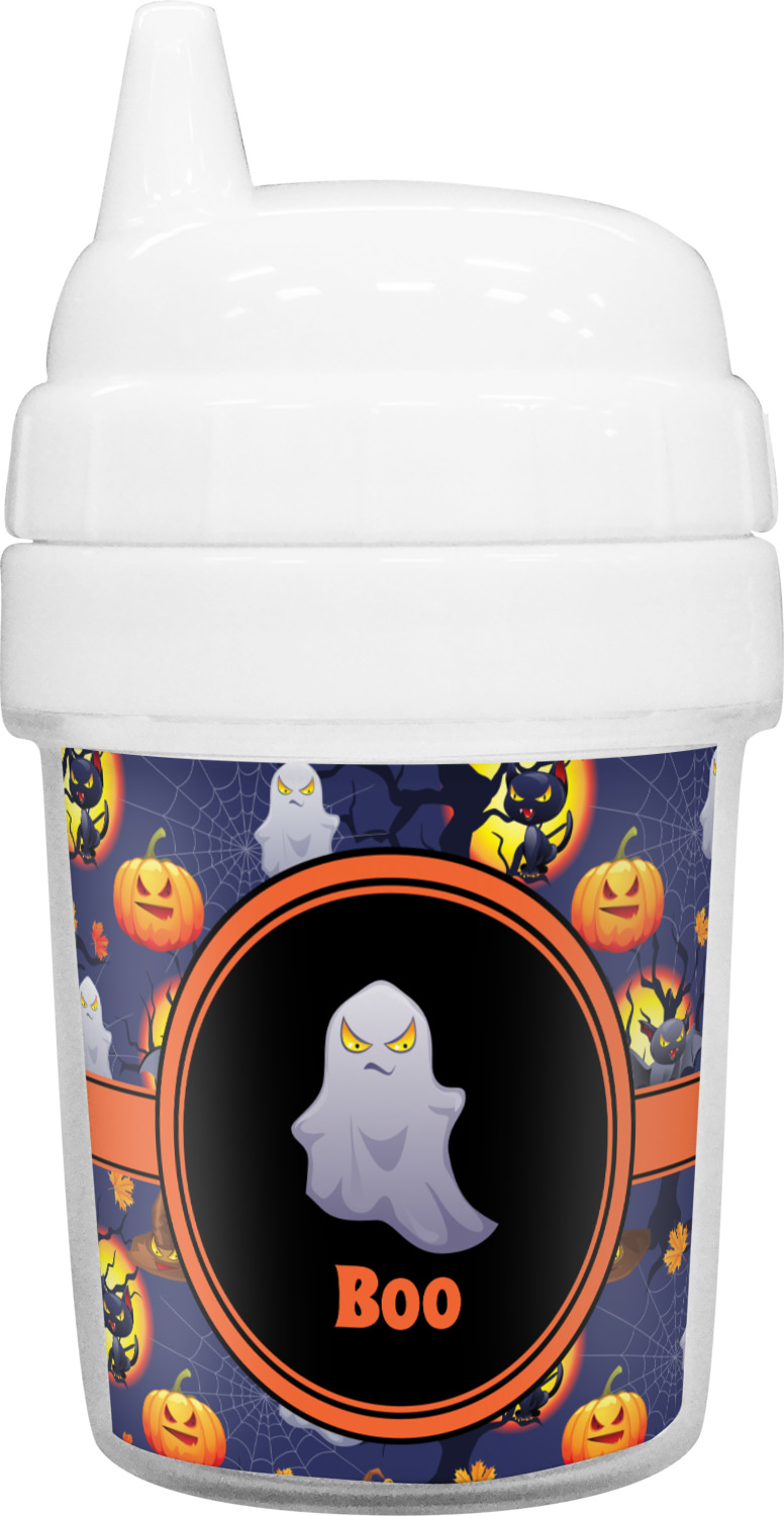 halloween night baby sippy cup personalized