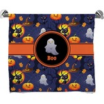 Halloween Night Full Print Bath Towel (Personalized)