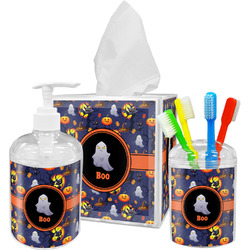 Halloween Night Acrylic Bathroom Accessories Set w/ Name or Text