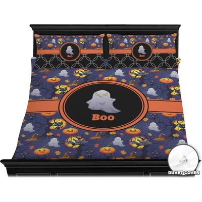 Halloween Night Duvet Cover Set - King (Personalized)