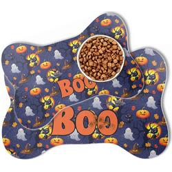 Halloween Night Bone Shaped Dog Food Mat (Personalized)