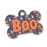 Halloween Night Bone Shaped Dog ID Tag (Personalized)