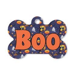 Halloween Night Bone Shaped Dog Tag (Personalized)