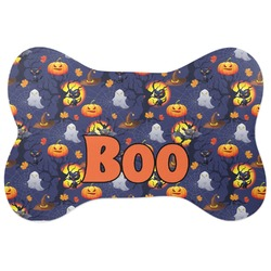 Halloween Night Bone Shaped Dog Food Mat (Personalized)