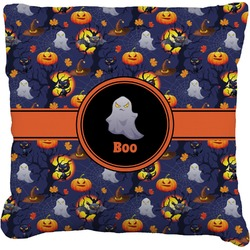 """Halloween Night Faux-Linen Throw Pillow 26"""" (Personalized)"""