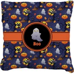 Halloween Night Burlap Throw Pillow (Personalized)
