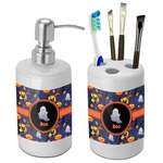 Halloween Night Bathroom Accessories Set (Ceramic) (Personalized)