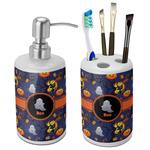 Halloween Night Ceramic Bathroom Accessories Set (Personalized)