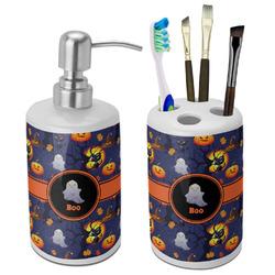 Halloween Night Bathroom Accessories Set (Ceramic) (Personalized)