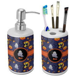 Halloween Night Ceramic Bathroom Accessories Set (Personalized)