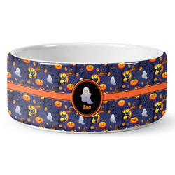 Halloween Night Ceramic Pet Bowl (Personalized)
