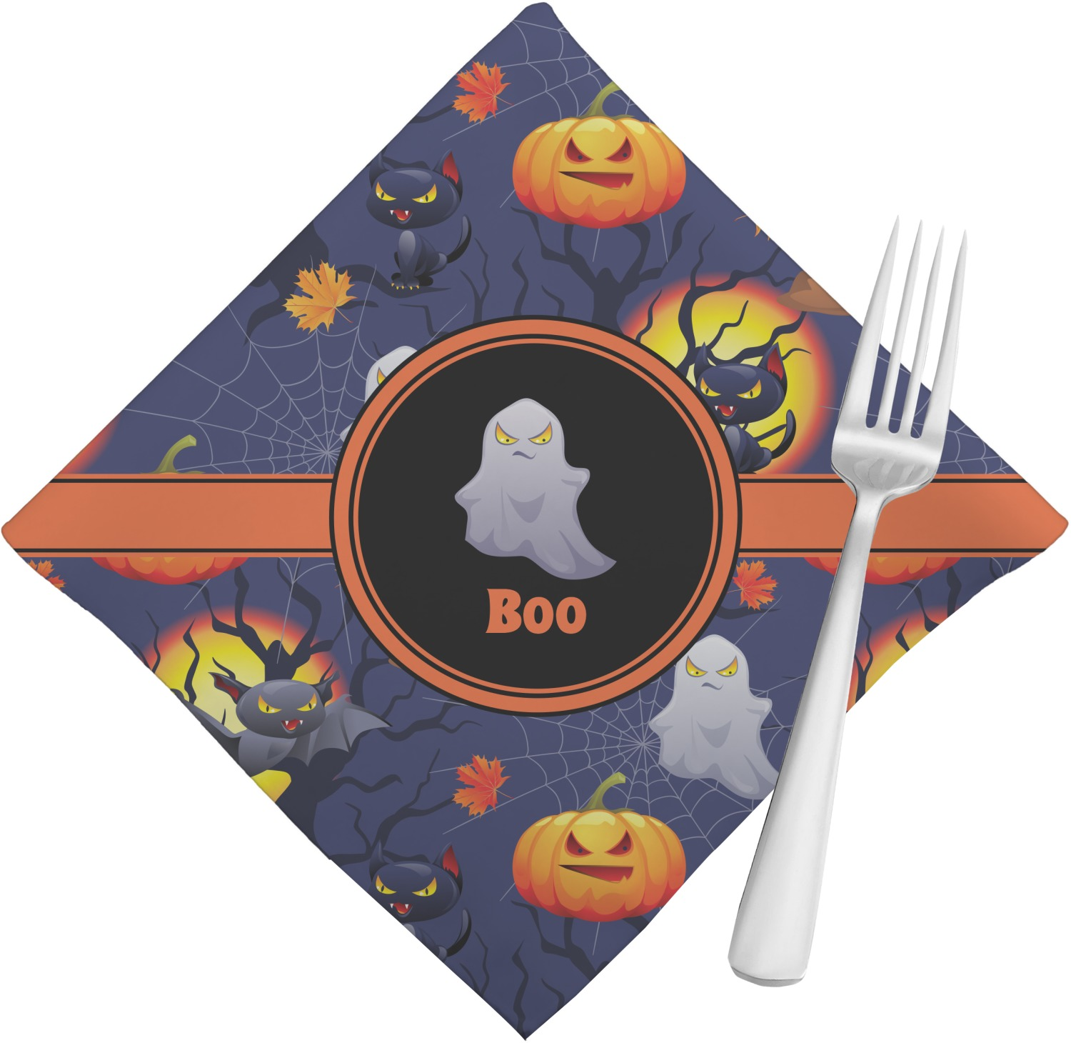 Halloween night napkins set of 4 personalized for Halloween cloth napkins