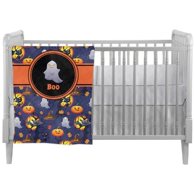 Halloween Night Crib Comforter / Quilt (Personalized)