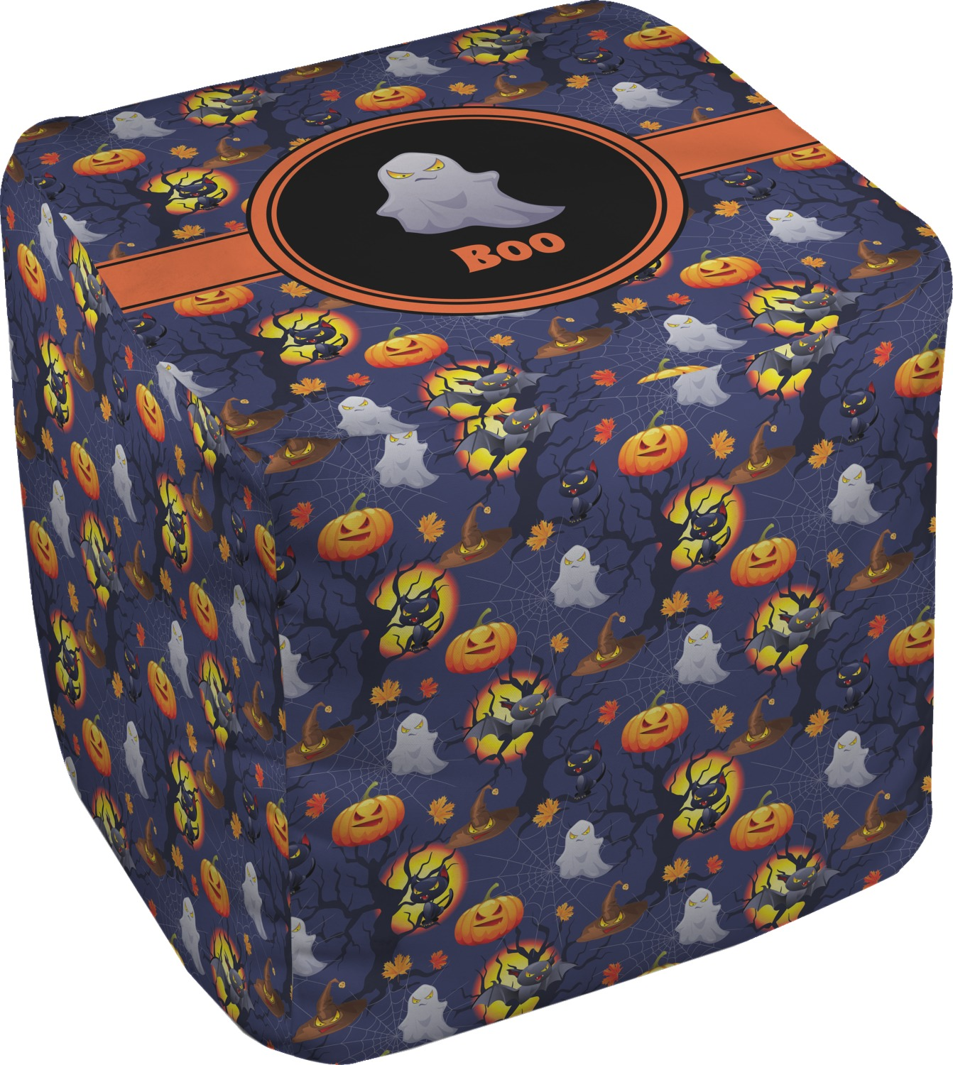 Halloween Night Cube Pouf Ottoman 18 Personalized