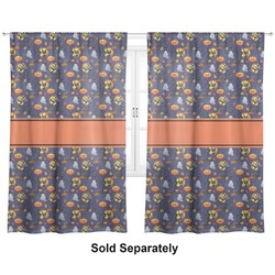 """Halloween Night Curtains - 40""""x54"""" Panels - Unlined (2 Panels Per Set) (Personalized)"""