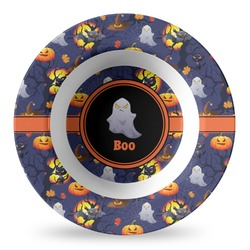 Halloween Night Plastic Bowl - Microwave Safe - Composite Polymer (Personalized)