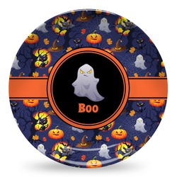 Halloween Night Microwave Safe Plastic Plate - Composite Polymer (Personalized)