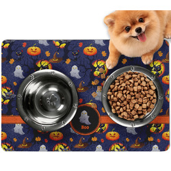Halloween Night Dog Food Mat - Small w/ Name or Text