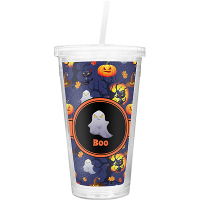 Halloween Night Double Wall Tumbler with Straw (Personalized)