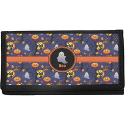 Halloween Night Canvas Checkbook Cover (Personalized)