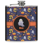 Halloween Night Genuine Leather Flask (Personalized)