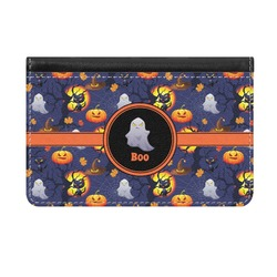 Halloween Night Genuine Leather ID & Card Wallet - Slim Style (Personalized)