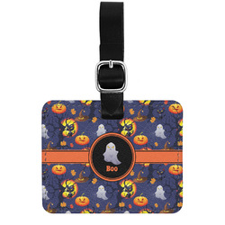 Halloween Night Genuine Leather Luggage Tag w/ Name or Text