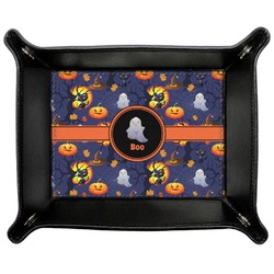 Halloween Night Genuine Leather Valet Tray (Personalized)