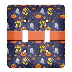 Halloween Night Light Switch Cover (2 Toggle Plate) (Personalized)
