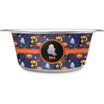 Halloween Night Stainless Steel Pet Bowl (Personalized)