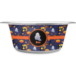Halloween Night Stainless Steel Dog Bowl (Personalized)