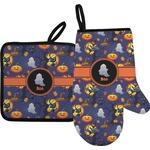 Halloween Night Oven Mitt & Pot Holder (Personalized)