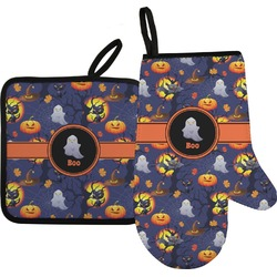Halloween Night Oven Mitt & Pot Holder (Personalized)