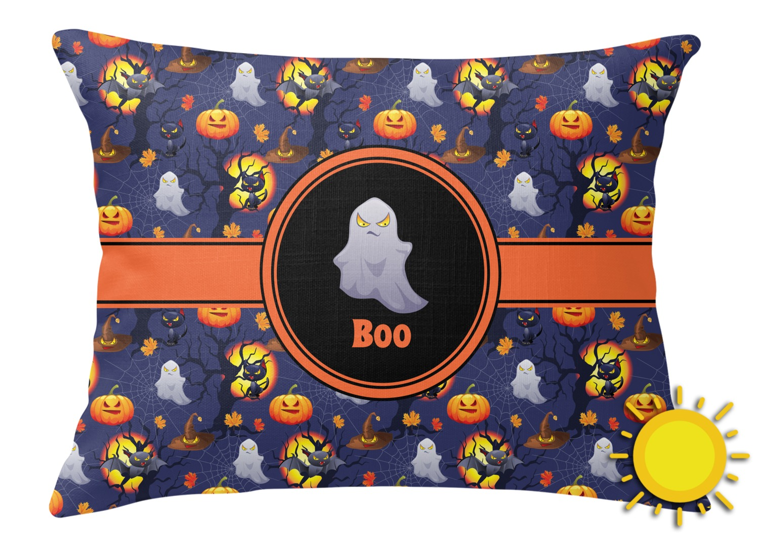 Rectangular Throw Pillow Dimensions : Halloween Night Outdoor Throw Pillow (Rectangular) (Personalized) - YouCustomizeIt