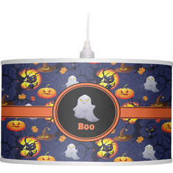 Halloween Night Drum Pendant Lamp Linen (Personalized)