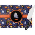 Halloween Night Rectangular Glass Cutting Board (Personalized)