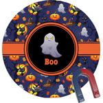 Halloween Night Round Magnet (Personalized)