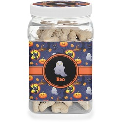 Halloween Night Dog Treat Jar (Personalized)