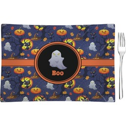Halloween Night Glass Rectangular Appetizer / Dessert Plate - Single or Set (Personalized)