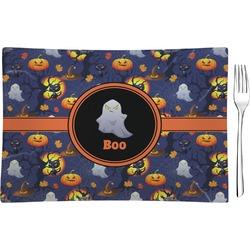 Halloween Night Glass Rectangular Appetizer / Dessert Plate - Single or Set (Personalized)