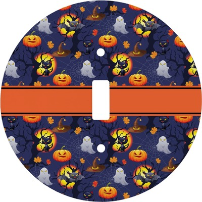 Halloween Night Round Light Switch Cover (Personalized)
